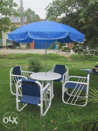 most modren stylish beautiful chair set with table and umberalla