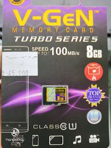 Memori 8gb Class 10 v gen TURBO SERIES Speed Up to 1OOMB