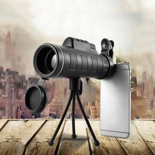 Monocular Telescope 40X60 Travel Portable HD Dual Focus With Tripod
