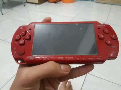 sony psp 3000 red