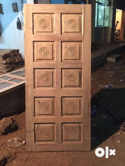 Show only image & SBI Natural Wooden Readymade DoorsWindows call or whatsapp ...