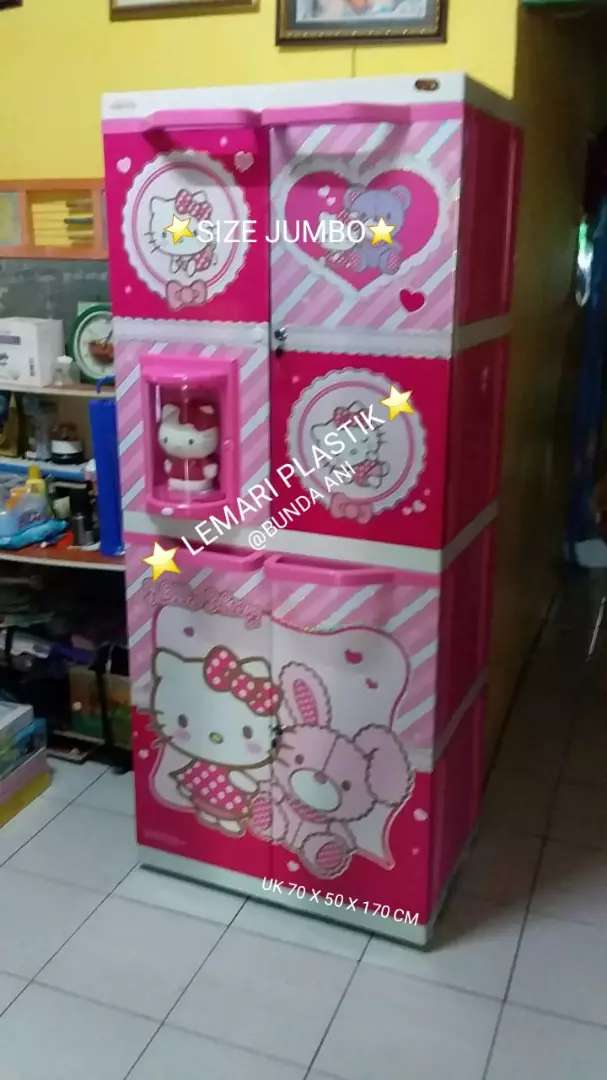 Promo Lemari Plastik Hello Kity Ada Bonekanya Mebel 769653985