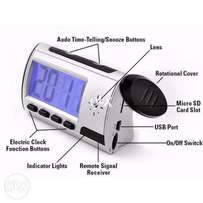 Audio and video recorder spy cam clock