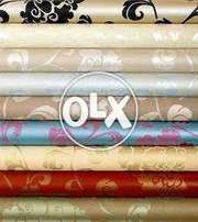 Wallpapers, PVC paneling, Ceiling, blinds, Wooden flooring, Vinyl floo