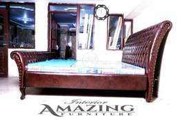 new FULL cushion tufted bed king size | without matress.