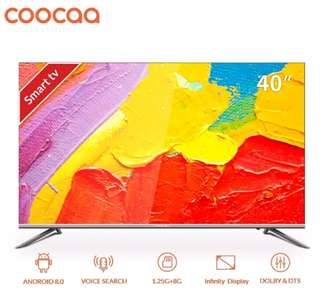 "obral TV Led Coocaa smart android TV 40"" oreo fullHD 40S5G bezelless"