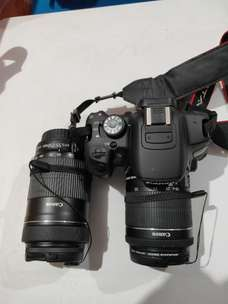 Canon EOS 700D Standar EFS 18-55 mm Second + Lensa EFS 55-250 mm
