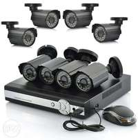 CCTV 8 HD cameras package (Free online on mobile)