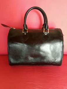 Tas import eks LOUIS VUITTON speeedy 30 epileather ad no seri hitam