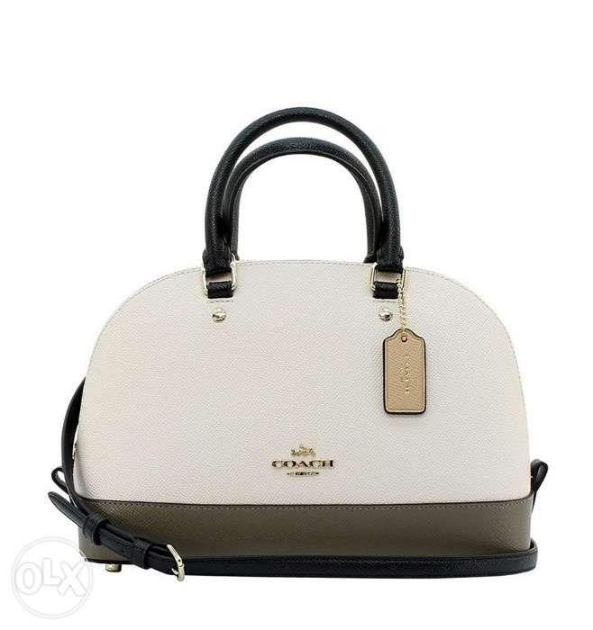 0dfcabb7abb3 SALE Coach Mini Sierra Crossbody Satchel Crossgrain Leather Colorblock ...