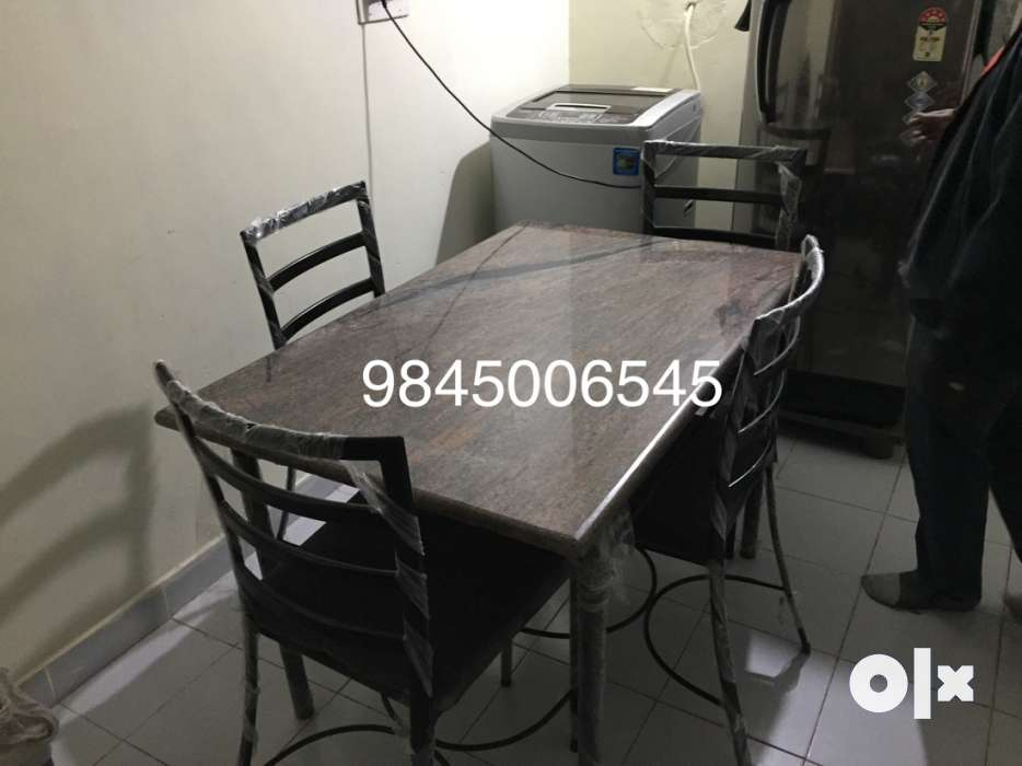 Rectangular Brown Wooden Table With Four Chairs Dining Set  : images1000x700inslot3filenamencmkhn2lm3e41 IN from www.olx.in size 934 x 700 jpeg 43kB
