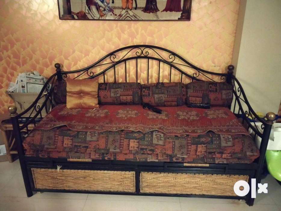 Wrought iron sofa cum bed with storage Mumbai Furniture Sindhi