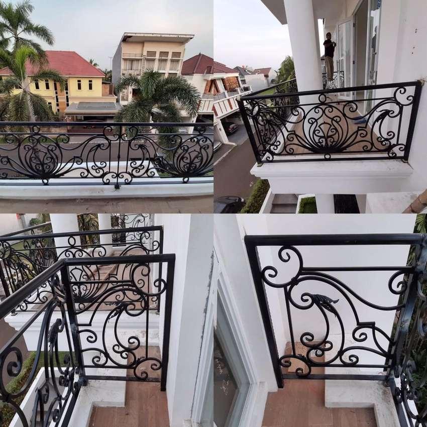Jual Pagar Tangga Railing Balkon Rumah Besi Tempa Anti Karat