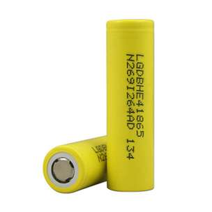 LG HE4 18650 Li-ion Battery 2500mAh 3.6V with Flat Top - Yellow