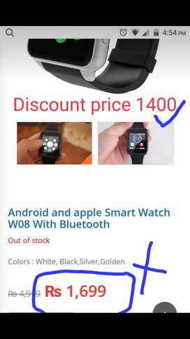 61cc56acf Android and apple Smart Watch W08 With Bluetooth