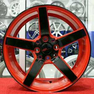 NE3 JD265 HSR R15X7 H8X100-114,3 ET33 RED BLACK