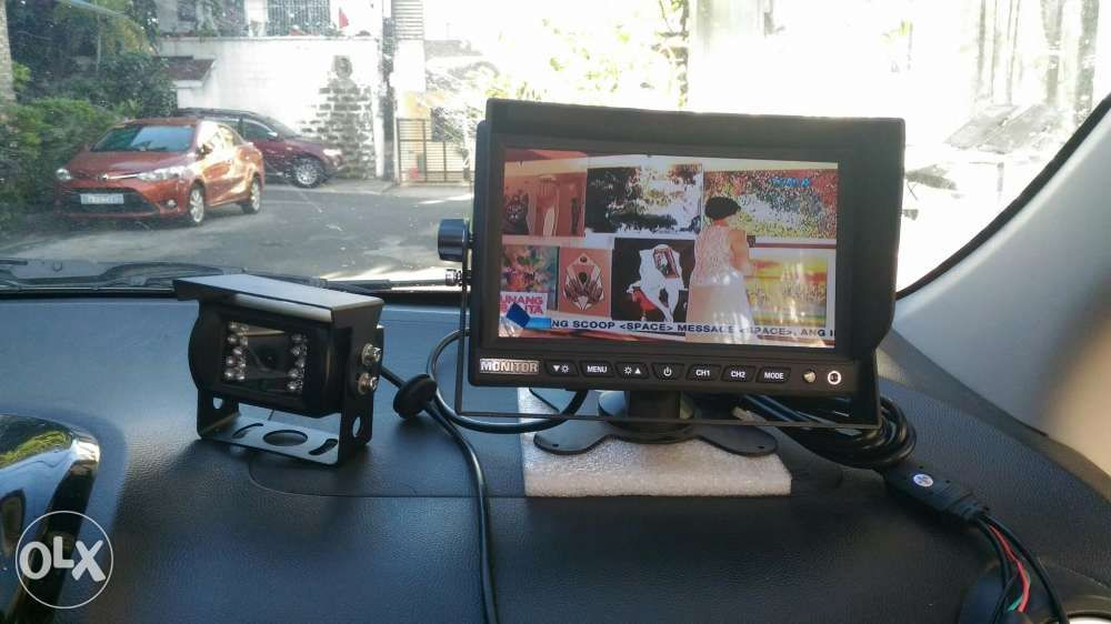 CCTV Car 7 Inch LCD Back Up Reverse Camera Monitor For TV Plus