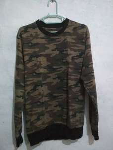 sweater army size M baby terry