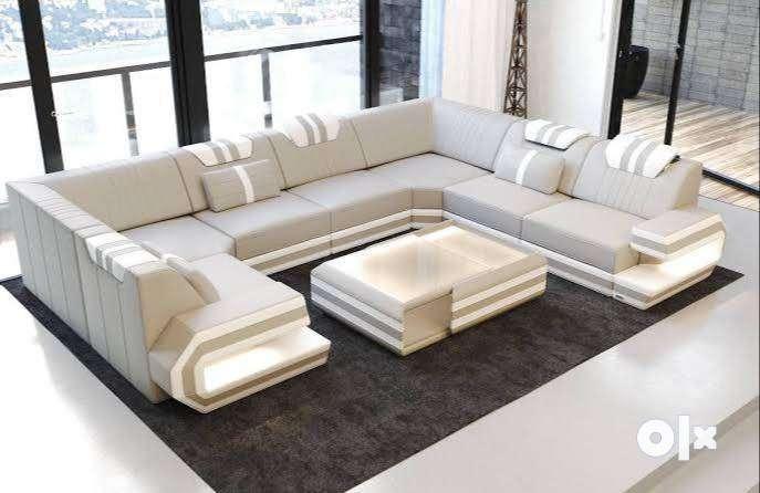 Brand New 10 Seater Sofa Set In White