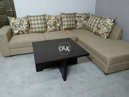 Sofa seven seater with table and cushions