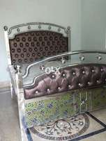 Stainless steel bed, side tabble and chair