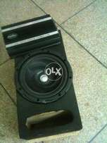 Kenwood woffer with 4 chanel amplifire