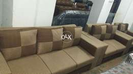 1 2 3 ,Sofa set with blocky cushions