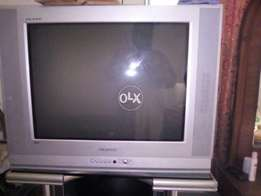 "I am selling my Samsung TV 27 "" silver colour good condition"