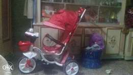 Baby cycle with pram