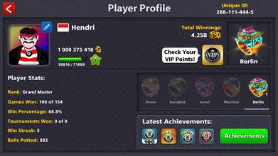 Akun 8 Ball Pool 1B
