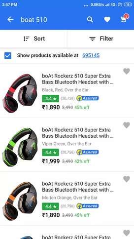 b338834c661 Boat rockerzzz 510 Bluetooth headphones
