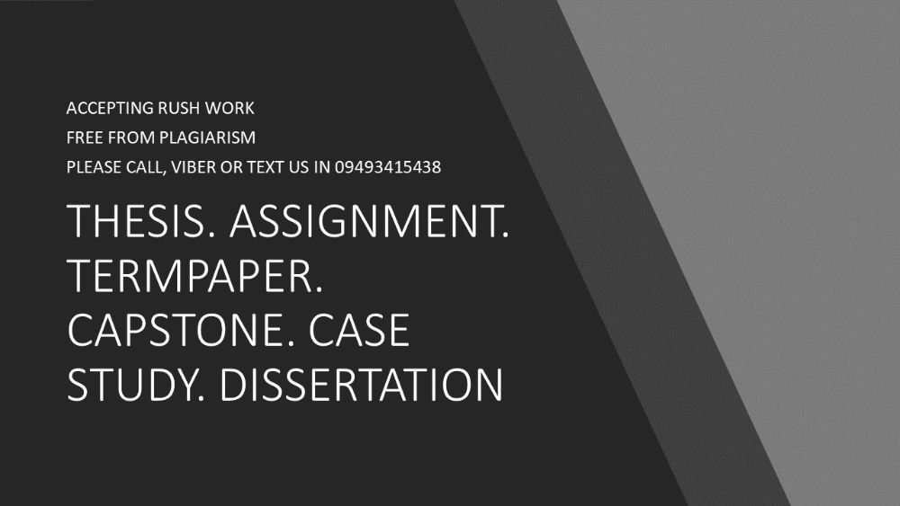 readymade thesis philippines