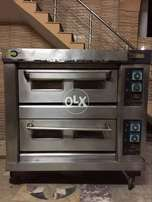 Double decker pizza oven