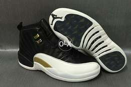 Air Jordan 12 Black gold white for boy's
