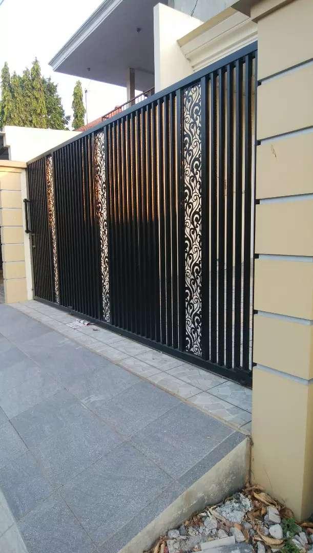 Pintu Pagar Motif. Laser Cutting. Cnc - Konstruksi Dan Taman - 774508390