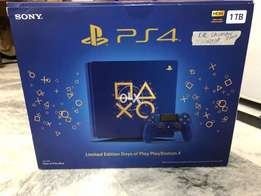 Ps4 Slim 1tb Blue Limited Edition Days Of Play Reg 1 Brand New