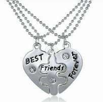 3pcs set Pendant Necklace Best Friend Forever Necklace