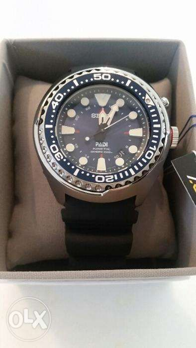 Seiko Sun065 Special Edition Padi Kinetic Gmt Diver Watch For Sale