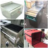 All kinds of fast food machinery and delivery bags,pizza ovens,fryers