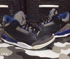separation shoes 2d67a 2d029 Air Jordan 3 Sports Blue size 8.5 Nike Kobe black cement Breds infra