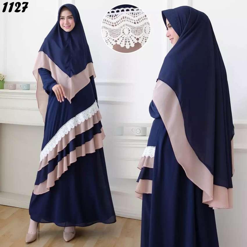 Gamis Set Syari Bahan Ceruty Babydoll Fashion Wanita 809149625