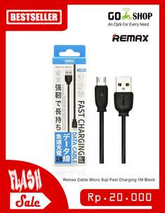 PROMO!! Remax Cable Charger/Data Transfer Micro Suji Fast Charging 1M
