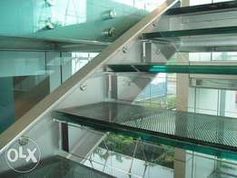 12mm Laminited Glass Stairs with Full Safety
