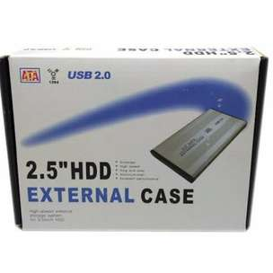 New 2.5 HDD External Case USB 2.0 Case Hardisk Laptop