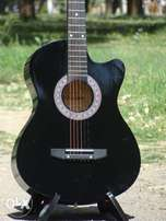 Black Acoustic Guitar 100% All Soung Codz Play with Warrenty ツ ツ