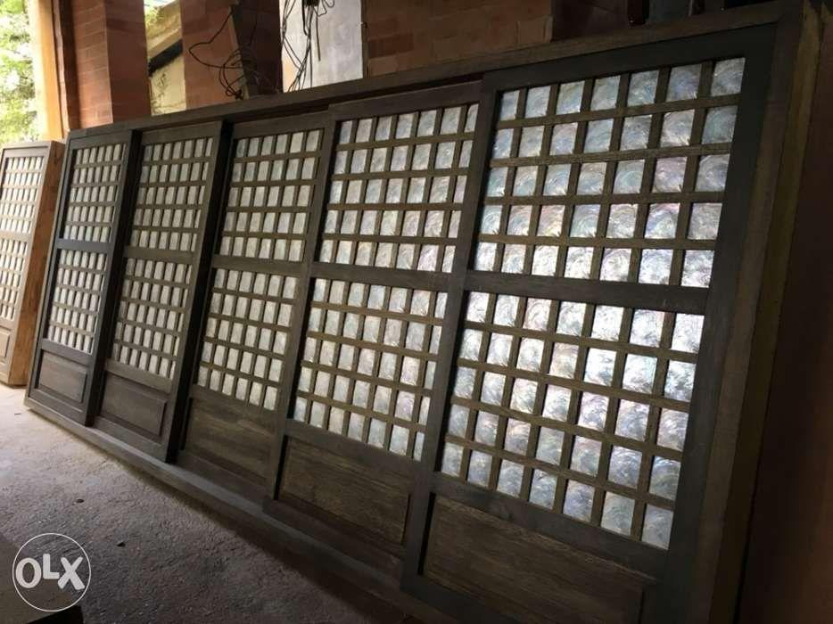 Made to order Capiz window and door panels made in Bataan