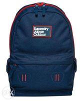 Superdry Super Trinity Montana Rucksack Backpack Bag Mens Navy Grit a343017ece421