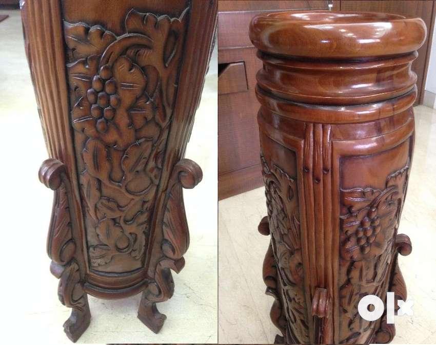 Flower Stand Home Decor Pure Kerala Teak Saag Wood Home Decor
