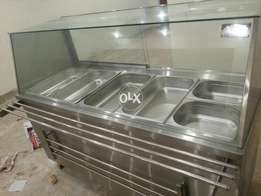 Cold bain marie with 6 ft under counter, for used commerical kitchen