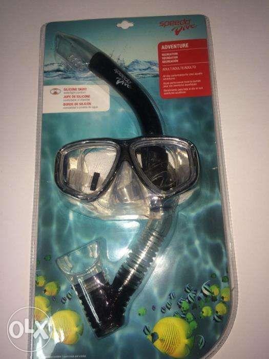 73fe64292074 ... Speedo Dive Adventure Recreation Adult Mask Snorkel Set Black ...